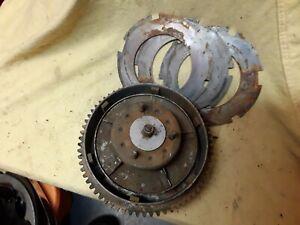 Harley FL 70-84 Clutch Drum, Hub, steel Plates OEM used 37702-70 A, 37550-41
