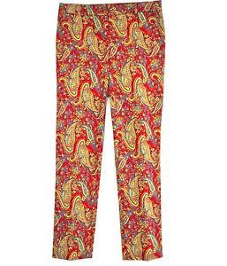 "Womens Laurel Ralph Lauren Trousers 60s Retro Paisley Print Hippy Boho 12 - 31""W"