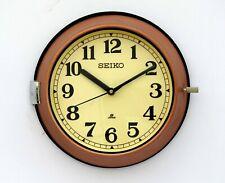 Vintage 1980's  Copper Slave Maritime Clock Nautical Ship Seiko Quartz Japan