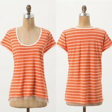 New ANTHROPOLOGIE Reese Tulle Trim Tee by Pilcro and the Letterpress XSmall