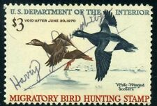 RW36 1969 Federal Duck Stamp (Reece) Used No Fault-Nicely Signed OFFER EX