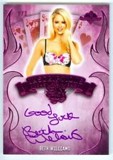 """Beth Williams """"Sin City Inscription Autograph /3"""" Benchwarmer Pink Archive 2015"""