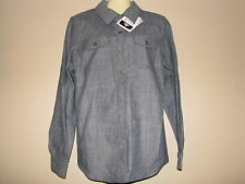 DICKIES Women's Tailored Fit Blue Logger Shirt - Size XS - NWT
