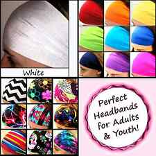 Yoga Headbands Wide Sports Workouts Fashion Adults Youth Halo Color [White]
