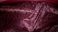 haute couture! dentelle  doublée extensible  col rose &  noir 50x150 cm