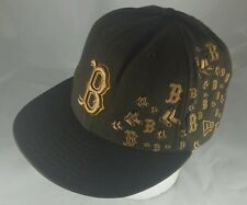 Boston Redsox New Era 59FIFTY Cap Hat Brown Fitted size 7 100% wool