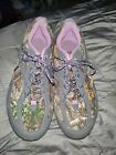 REAL TREE sneakers size 8 purple and camo