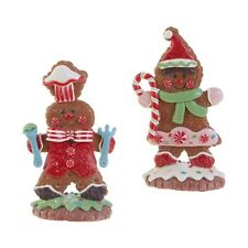 "Raz Imports 5"" Gingerbread People Set of 2"