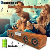 Wireless Bluetooth 5.0 Speaker Power Bank Stereo Bass Subwoofer Outdoor Home PC