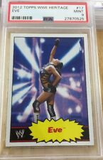 Eve 2012 Topps Heritage Wwe Card #17 Psa Graded 9