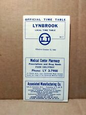 1952 Long Island Railroad Local Time Table Lynbrook New York Railway Ads
