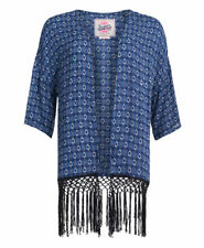 Womens Superdry IBIZA Print Kimono Tribal Geo Blue M