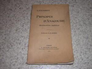 1913.principes d'anacousie / Zund-Burguet.rééducation auditive.médecine