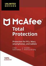 McAfee Total Protection 2020 Unlimited Devices,12 Months Win, Mac, IOS, Android
