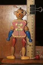 Vintage Wooden Rat Monkey Hanging Pull Toy