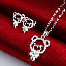 Girls Kids Jewellery Cute Gift Set Necklace Earrings 925 Sterling Silver Jewelry