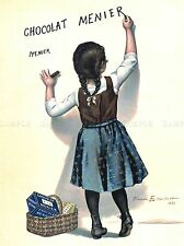 ADVERTISEMENT FRANCE CHOCOLATE FOOD KITCHEN CHOCOLAT MENIER POSTER PRINT LV374