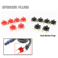 Dual Banana Connector 2-Way Audio Speaker Cable Male Plugs 12 Sets 6 Black 6 Red