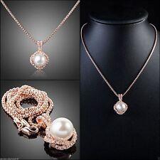 Handgefertigte Modeschmuck-Halsketten & -Anhänger mit Perle für Damen
