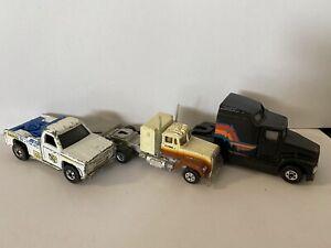 Hot Wheels Kenworth Semi, Larry's Towing, Road Champ Mack Semi Truck Vintage Lot