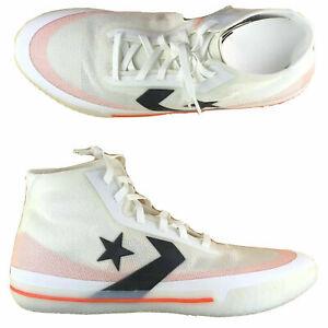 Converse All Star Pro BB Hi Top Basketball White Orange Sneakers 165653C Size 13