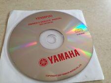 Yamaha YZ450F ( X ) YZ450 F YZ 450 Workshop Service manual manuel atelier CD pdf