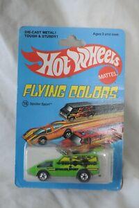VINTAGE 1975 HOT WHEELS FLYING COLORS -#16 SPOILER SPORT-NEW ON CARD