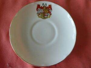 A PIECE OF 'GOSS' CRESTED CHINA IN THE FORM OF A SAUCER -- CROYDON