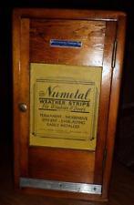 HTF Antique NuMetal Wooden Door Window Weatherstrip Display Salesman Sample DR