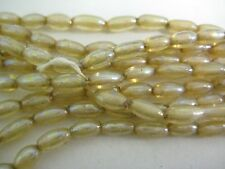 VINTAGE 1950'S-1960'S STRANDS OF GLASS OAT PEARL IRIS BEADS MADE IN JAPAN