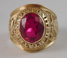 Unbranded Natural Ruby Yellow Gold Fine Rings
