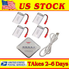 4x 3.7V 750mAh Battery with 4 in1 Charger For MJX X400  RC Quadcopter Drone New