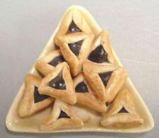 Dollhouse Miniature Jewish Platter of Purim Hamentashen Cookies by Barb