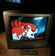 "JVC TV-20240 20"" CRT TV/ VCR/ RETRO GAMING COMBO TELEVISION with Remote"