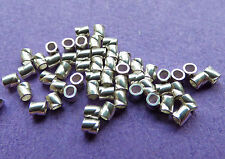 2mm 925 Sterling Silver Seamless twisted Crimp Tube 25pcs.