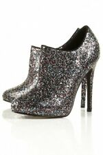 TOPSHOP HIGH HEEL GLITTER  PARTY BOOTS SIZE UK3 EUR36 US5.5