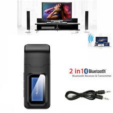 2in1 Bluetooth Audio Receiver/Sender/Transmitter 3.5mm Adapter For TV/Headphones