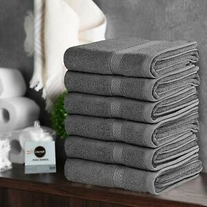 Bath Towels 27x54 inches Multiple Colors 18 Lbs 100% Cotton 6 & 12 Pieces