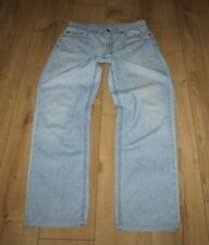 Vintage Light Blue MUSTANG Zip Straight Leg Stonewashed Men's Jeans Size 34 L 33
