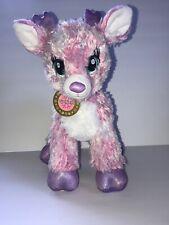 "Build A Bear Twinkle Reindeer Pink Sparkle Deer Medallion 14"" Stuffed Animal"