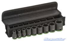 Bosch Steckschlüsseleinsätze im Set, 9-teilig, 10 mm - 27 mm für harten Einsatz