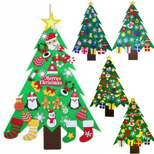Large Kids DIY Felt Christmas Tree with Ornaments Xmas Gift Wall Hanging Decor
