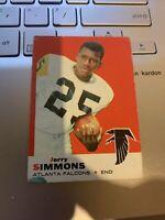 1969 Topps Football #24 Jerry Simmons Atlanta Falcons