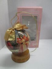 """Mattel 1997 Holiday Barbie 4"""" Decoupage Ornament New In Box!"""