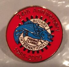 Lake Champlain Rotary International Fishing Classic Derby, NY, VT, 3.unused pins