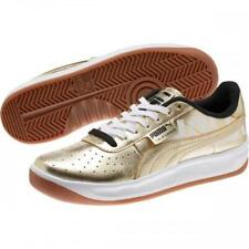 Puma HOLLYWOOD California Metallic Gold Black Leather Shoes 2 Sets Laces Mens 11
