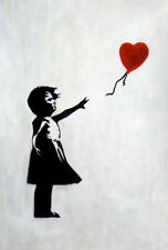 Homage To Banksy - Girl With Balloon 60x90 cm Oil Painting 59827