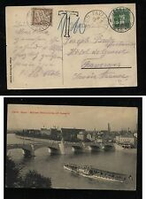 Switzerland post card to France postage due  1911            HC0417