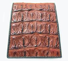 CROCODILE BONE SOFT SKIN LEATHER MEN'S  BIFOLD COGNAC BROWN WALLET BRAND NEW