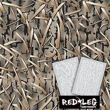 Redleg Camo DG2 grass camouflage stencil kit 18x26 duck marsh **2 Included**